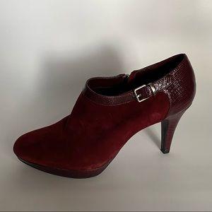 Bandolino Women Burgundy Suede Ankle Boots